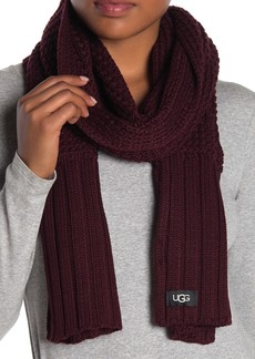 UGG Textured Wool Blend Scarf