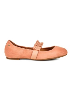 UGG Thea Ruffle Suede Ballet Flat