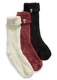 UGG® 3-Pack Cozy Sparkle Socks