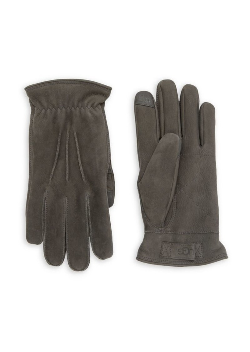 Ugg 3 Point Leather Suede Gloves