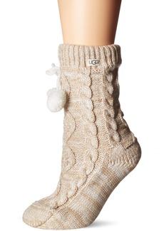 UGG Accessories Women's Pom Fleece Lined Crew Sock  O/S