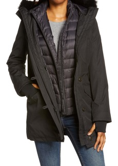 UGG® Adirondack 3 in 1 Waterproof Down Parka with Removable Genuine Shearling Trim