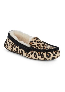 UGG Ansly Leopard Calf Hair Slippers