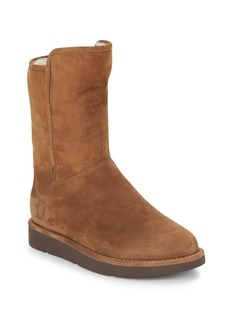 UGG Abree Shearling-Lined Suede Boots