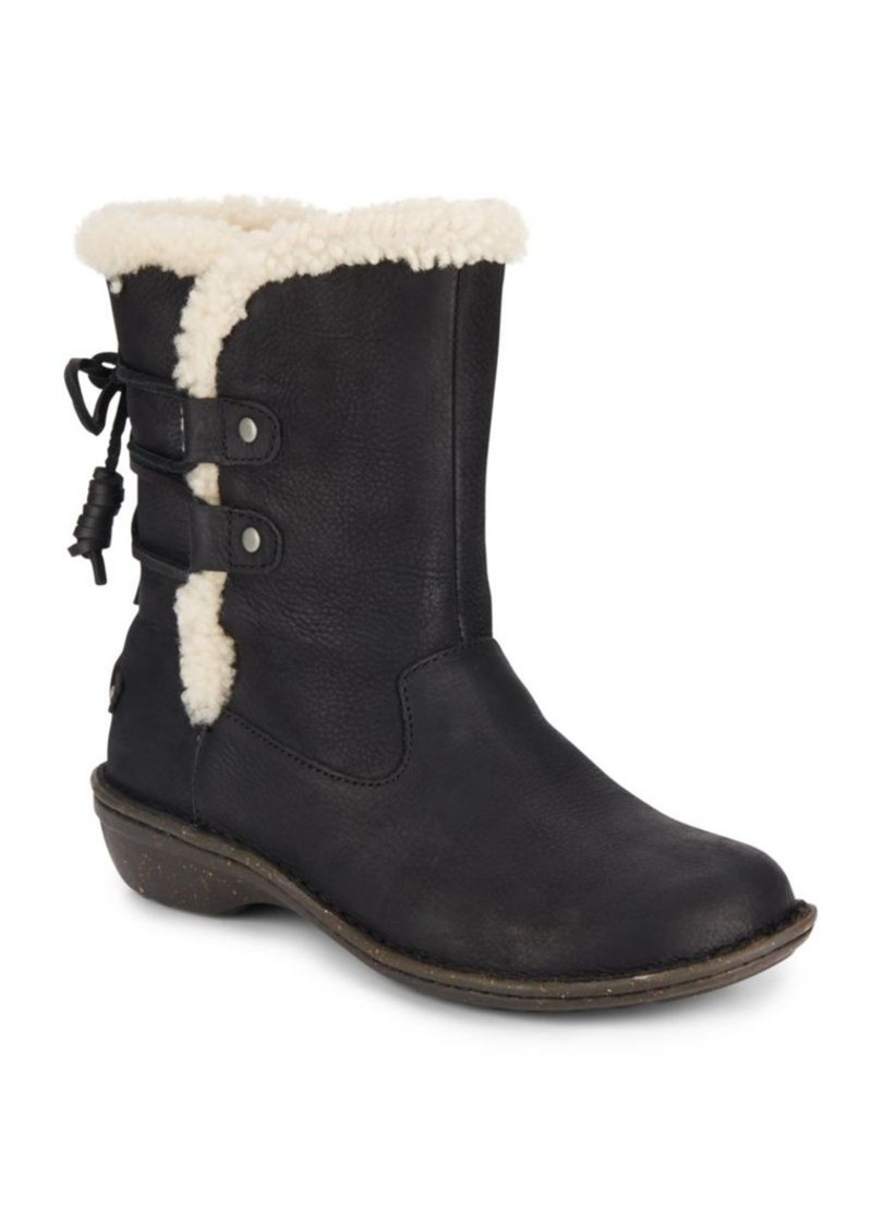 UGG Australia Akadia Shearling & Leather Boots