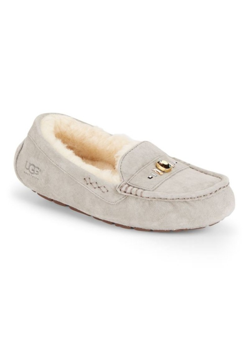 UGG Ansley Swarovski Crystal, Leather & Shearling Loafers