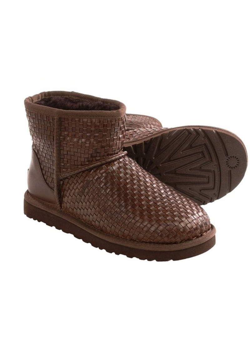 classic mini woven ugg boots. Black Bedroom Furniture Sets. Home Design Ideas