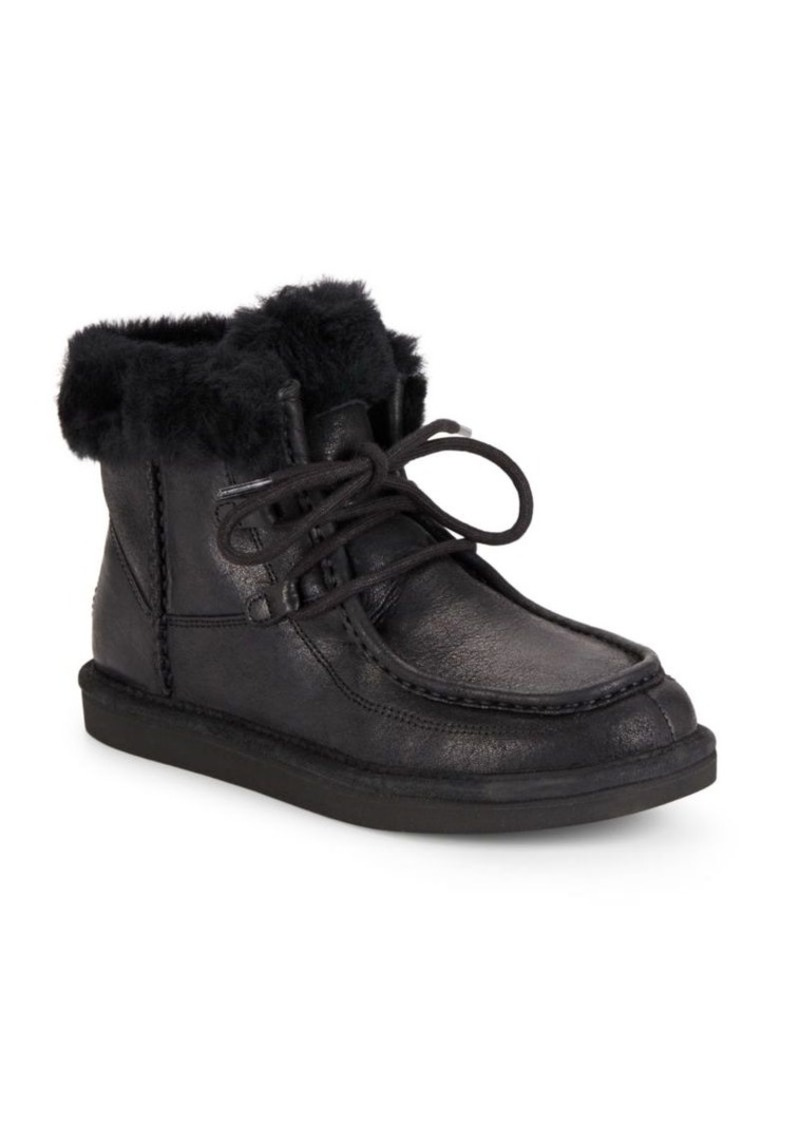 UGG Australia Cyprass Shearling & Leather Sneakers