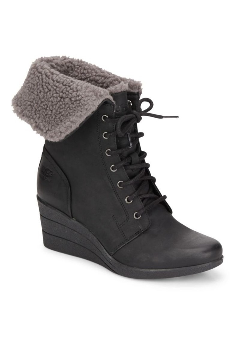 Ugg Ugg Zea Lace Up Wedge Boots Shoes