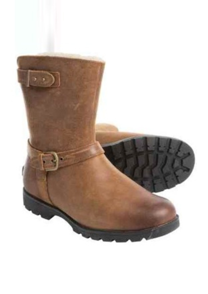 5fe1b344315 ® Australia Grandle Leather Boots - Shearling Lined (For Women)