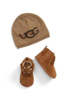UGG® Baby Neumel Boot & Beanie Set (Baby)
