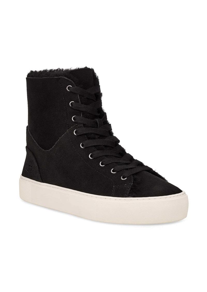 UGG® Beven Genuine Shearling High Top Sneaker (Women)