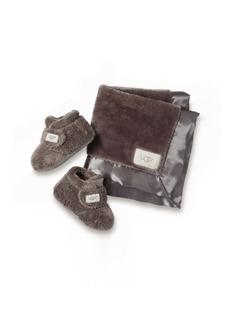 UGG® Bixbee Booties & Lovey Blanket Set (Baby)