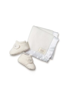 UGG® Bixbee Booties & Lovey Blanket Set (Baby)