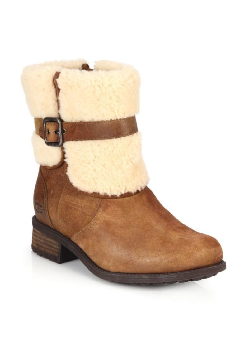 UGG Blayre II Shearling Cuff Suede Boots