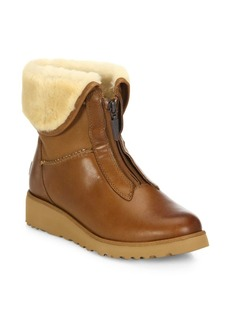 UGG Caleigh Zip-Front Wedge Boots