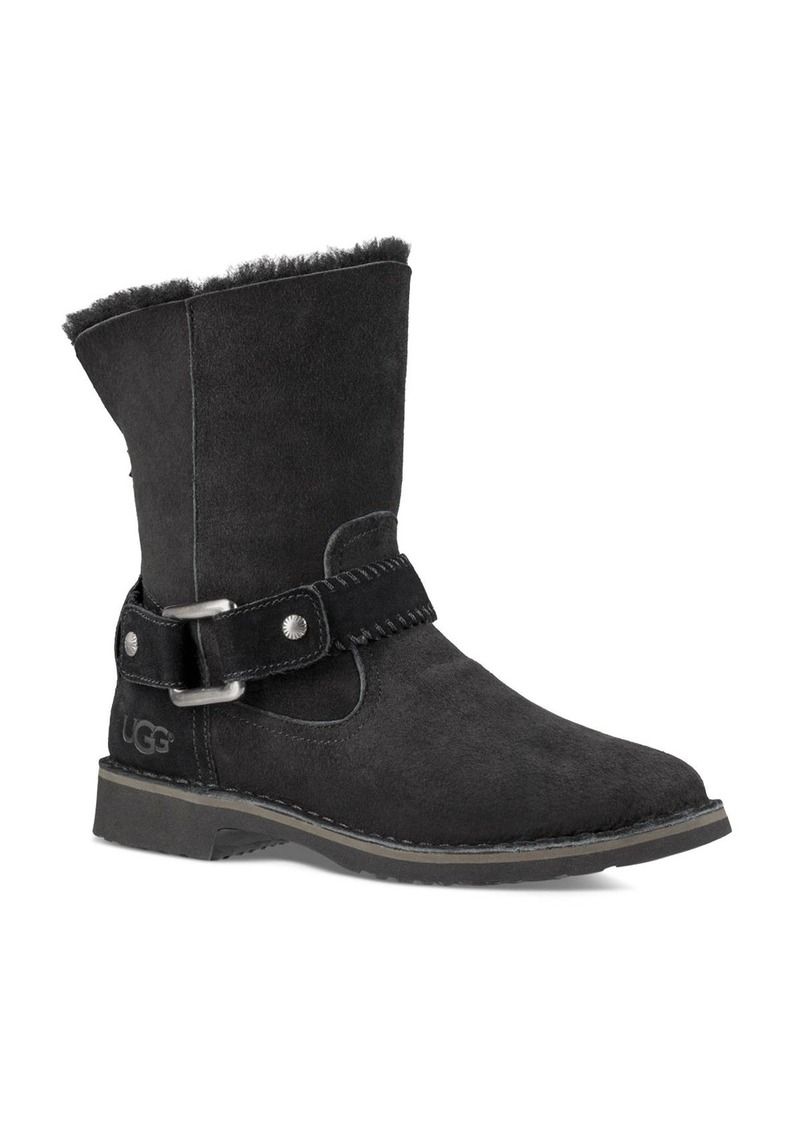 UGG� Cedric Sheepskin and Leather Belted Booties