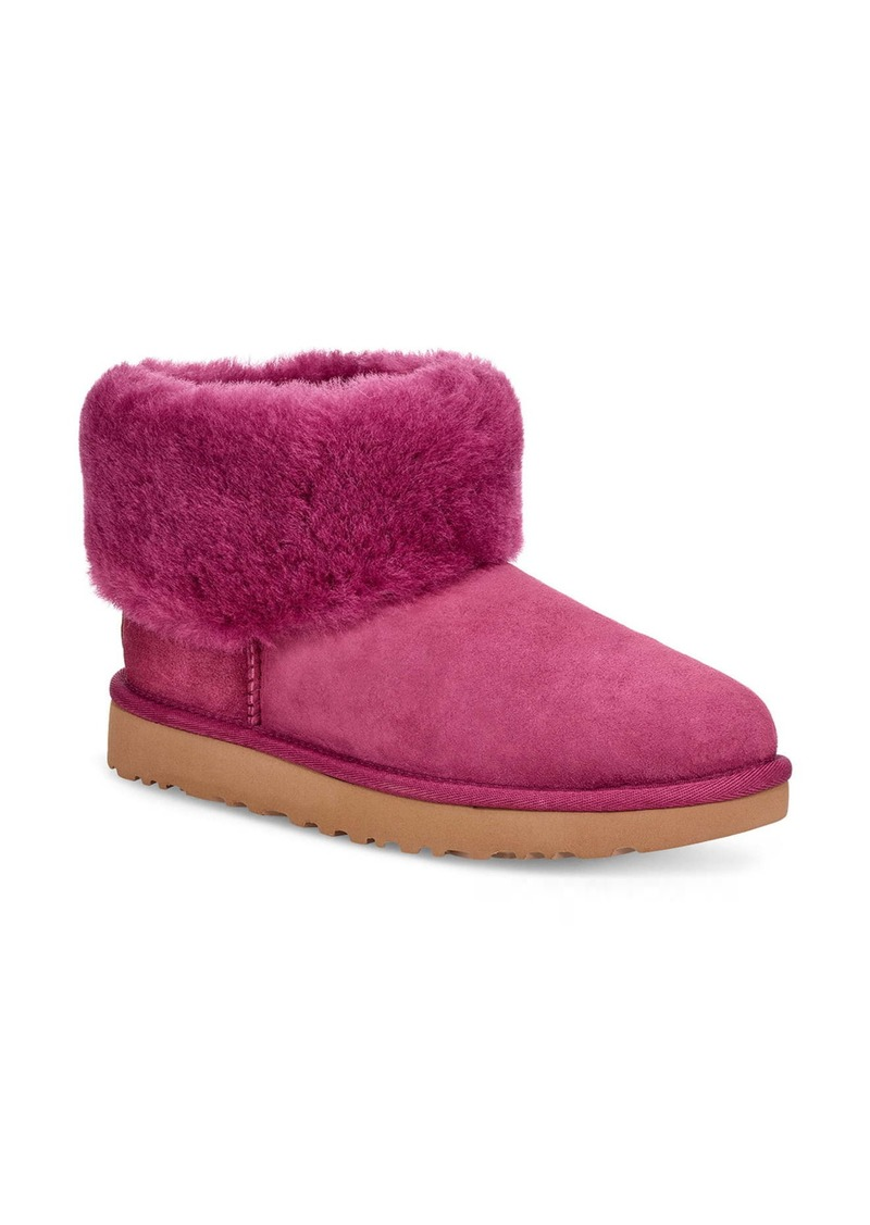 UGG® Classic Mini Fluff Genuine Shearling Bootie (Women)