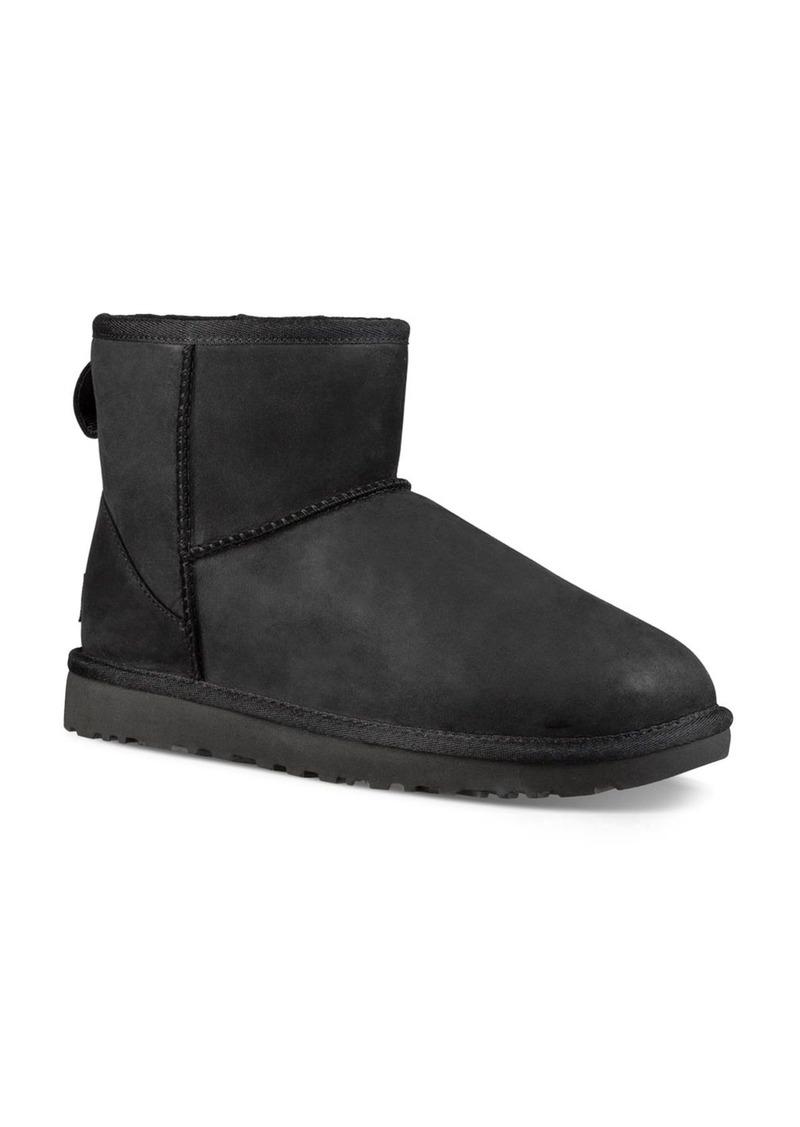 UGG� Classic Mini Leather and Sheepskin Booties