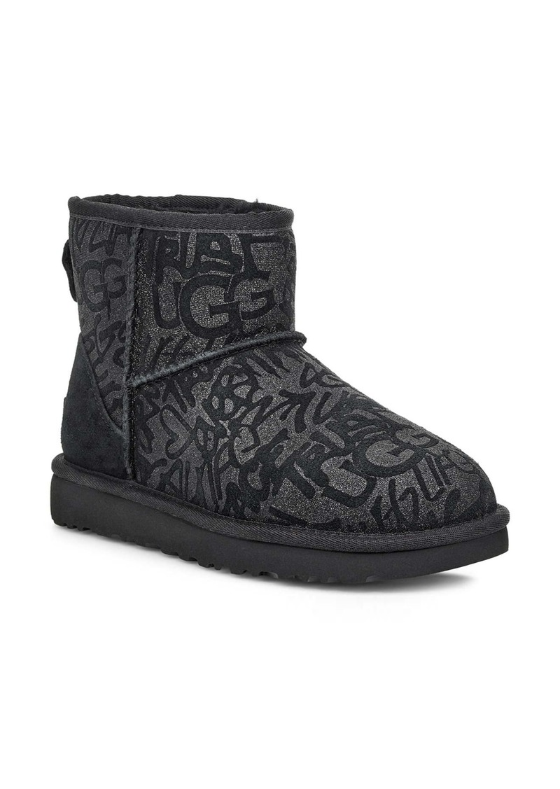 UGG® Classic Mini Sparkle Graffiti Boot (Women)