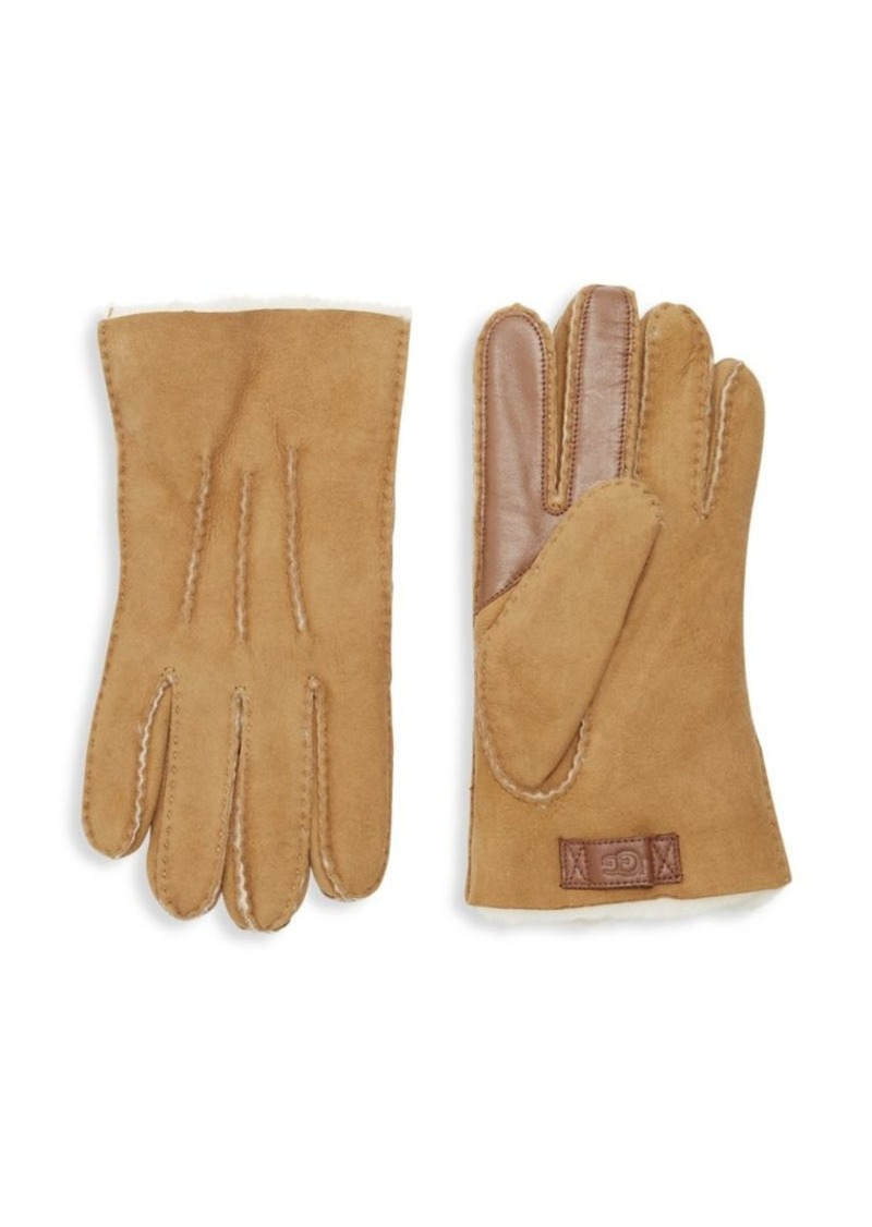Ugg Men's Contrast Sheepskin Touch Tech Gloves