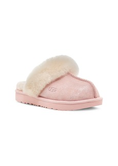 UGG® Cozy II Metallic Genuine Shearling Cuff Slipper (Toddler, Little Kid & Big Kid)