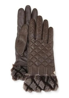 UGG Croft Quilted Leather Smart Gloves