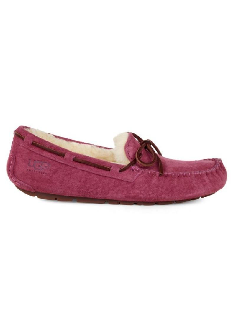 UGG Dakota Suede Shearling-Lined Slippers