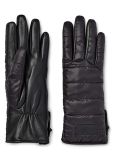 UGG® Faux Fur Lined Quilted Gloves