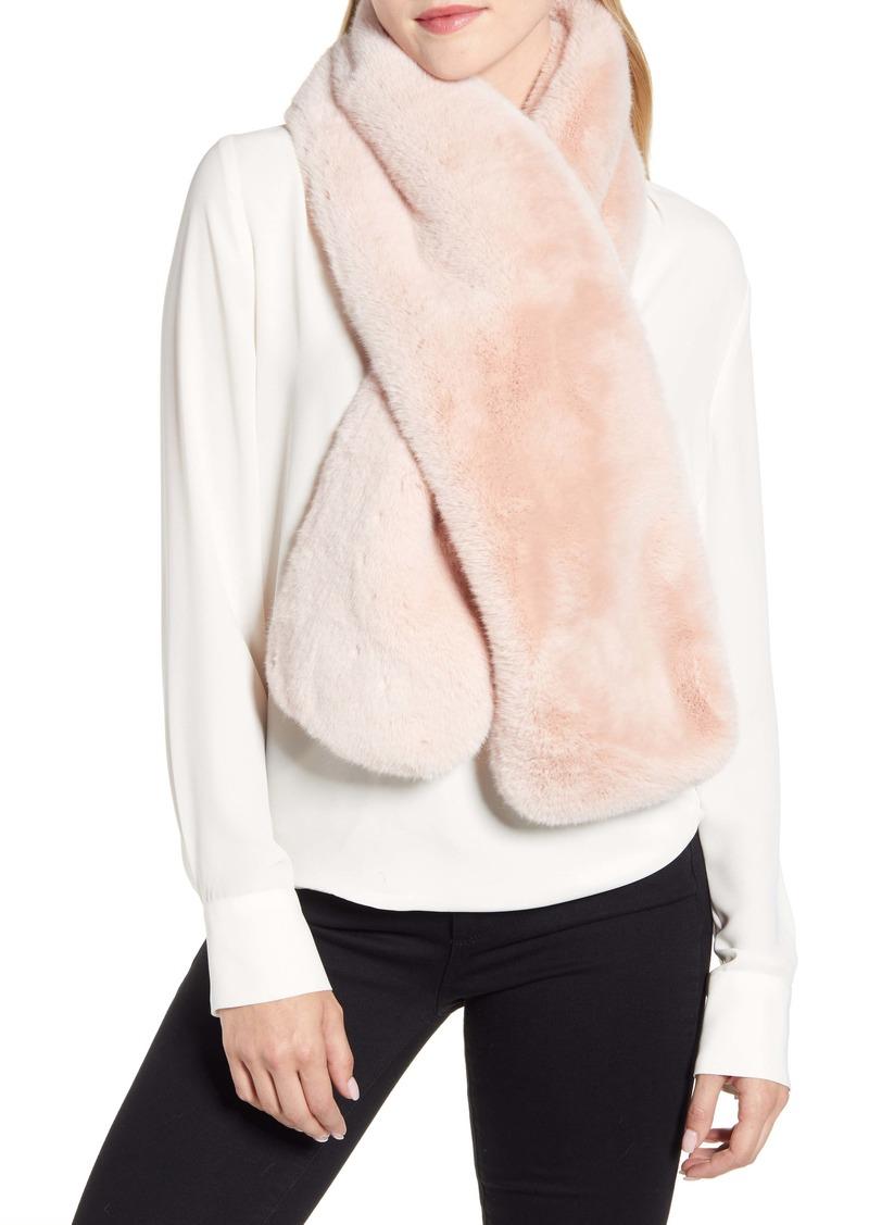 UGG® Faux Fur Pull Through Scarf