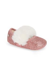 UGG® Fluff Glitter Ballet Flat (Baby & Walker)