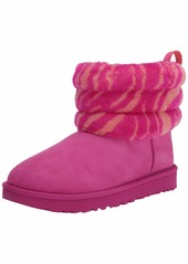 UGG Fluff Mini Quilted Zebra Boot  Size