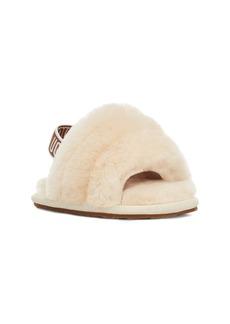 UGG® Fluff Yeah Genuine Shearling Slide Sandal (Baby)