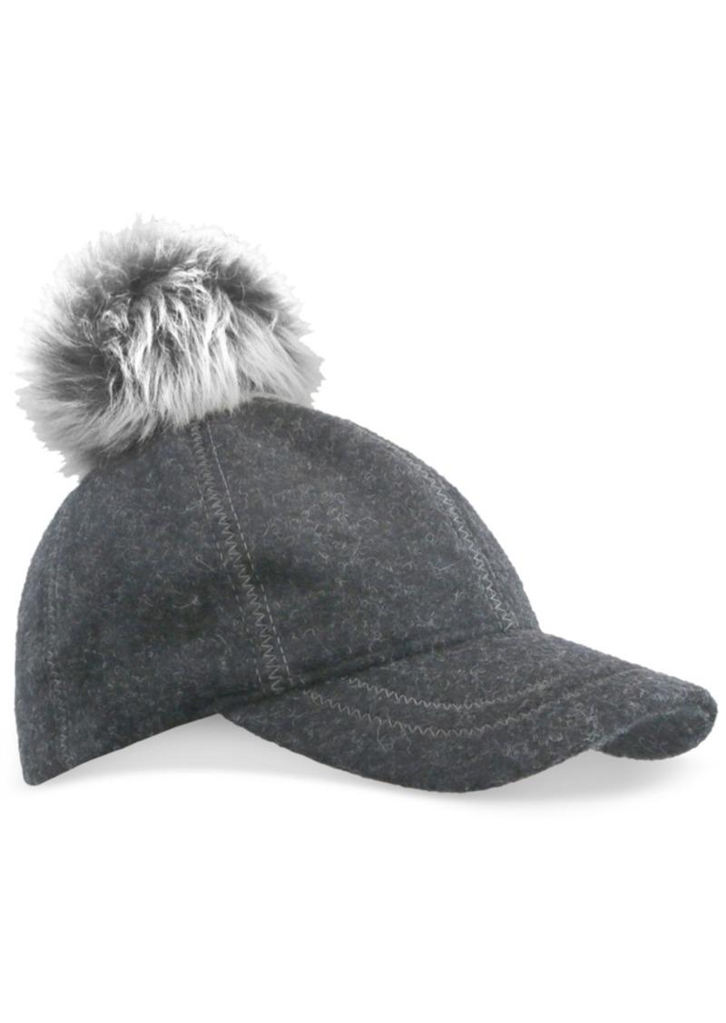 5244eeef3a UGG Ugg Fur Pom Pom Baseball Hat
