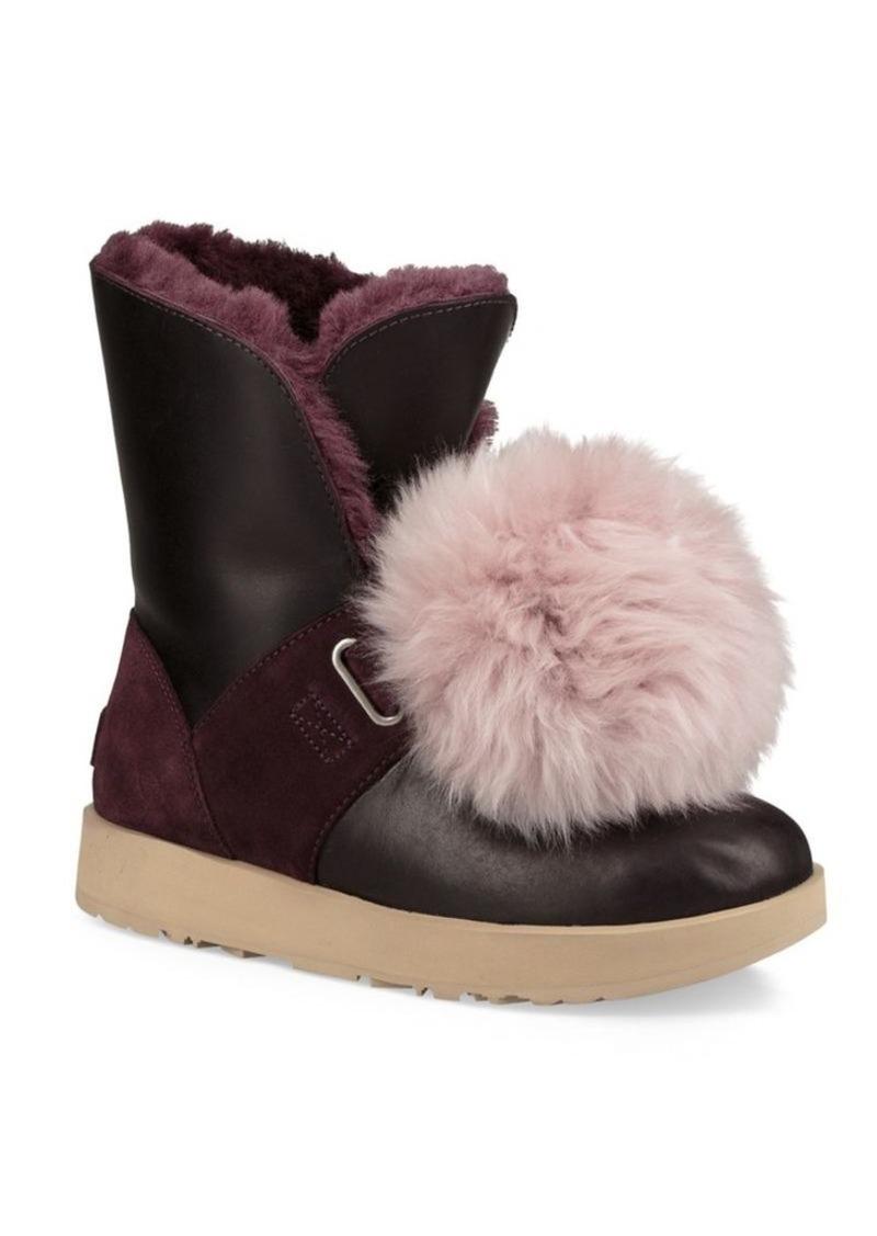 e439780075b Isley Pom-Pom Waterproof Leather Boots