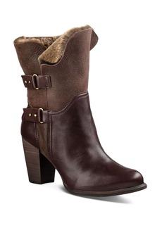 UGG� Jayne Leather and Sheepskin Mid Calf Booties