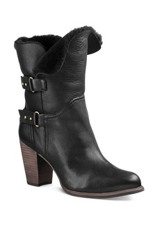 UGG� Jayne Leather and Sheepskin Mid Calf Booties