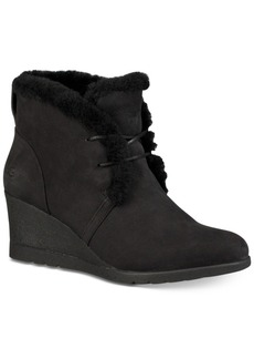 Ugg Jeovana Wedge Lace-Up Booties