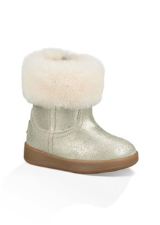 UGG® Jorie II Metallic Genuine Shearling Boot (Baby & Walker)