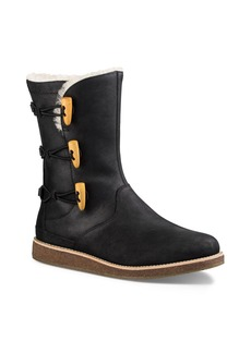 UGG� Kaya Leather and Sheepskin Toggle Booties