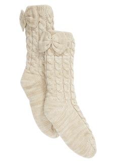 UGG® Laila Bow Fleece Lined Socks