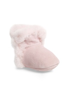 UGG® Lassen Genuine Shearling Crib Shoe (Baby)