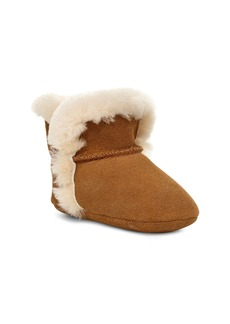 UGG® Lassen Genuine Shearling Crib Shoe (Baby)