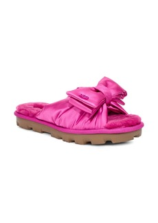 UGG® Lushette Puffer Genuine Shearling Slide (Women)