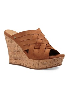 UGG� Marta Woven Suede Mule Wedge Sandals