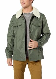UGG Men's Keagan Nylon Trucker Jacket dark olive S