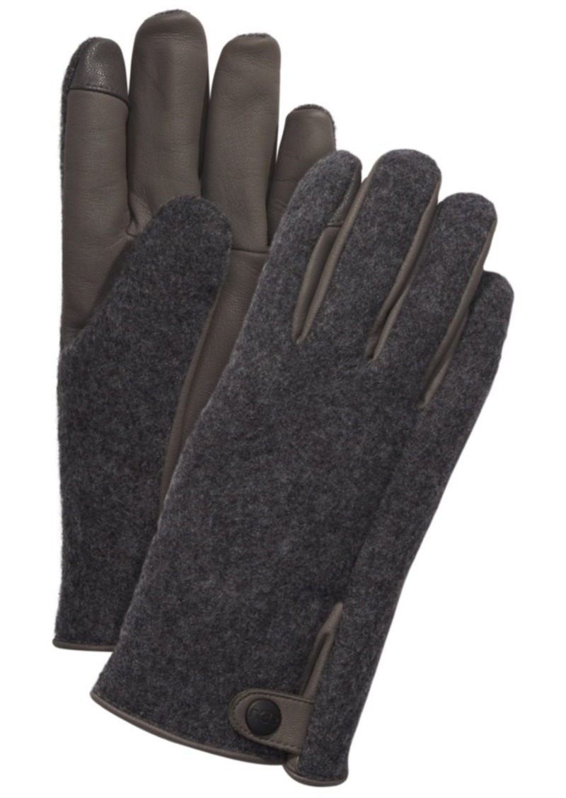 Ugg Men's Mixed-Media Gloves