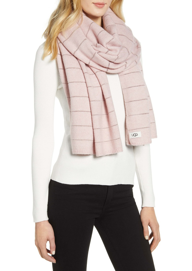 UGG® Metallic Stripe Scarf