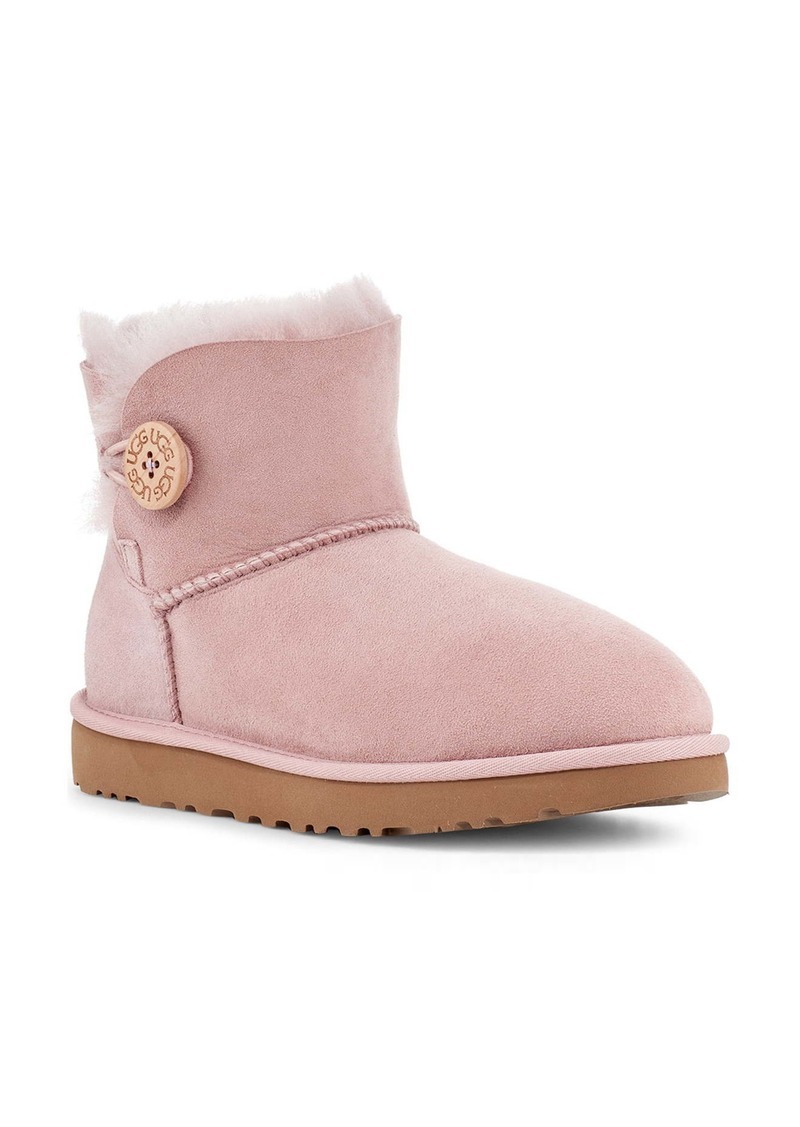 UGG® Mini Bailey Button II Genuine Shearling Boot (Women)