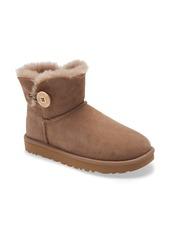 UGG® Mini Bailey Button II Genuine Shearling Boot (Women)